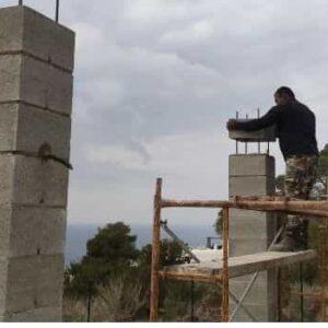 constructora ibiza bloques de columnas